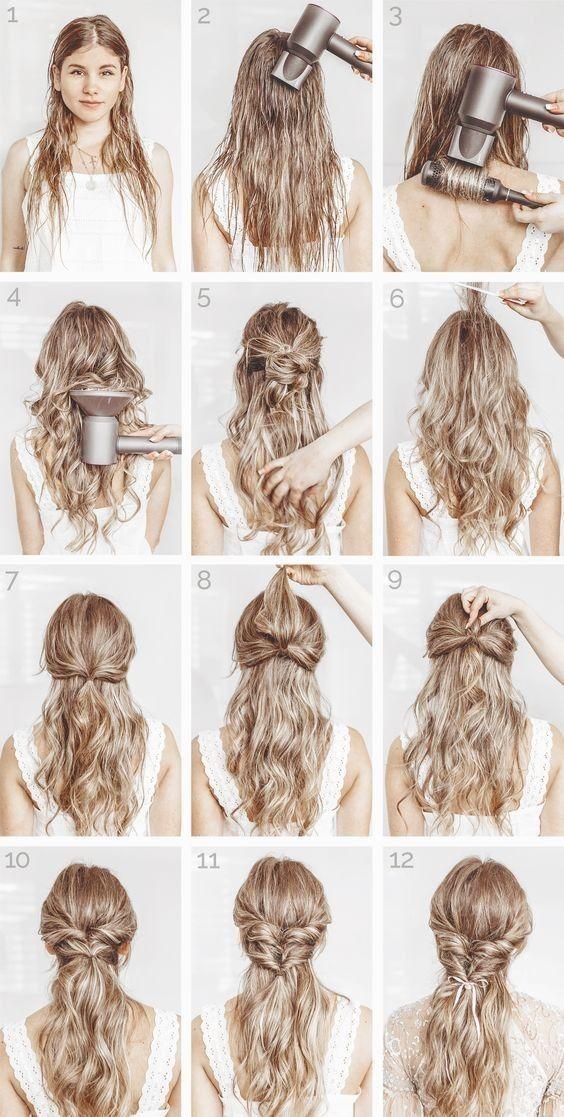 Siga O Blog Do Link Easy Hairstyles Medium Hair Styles Elegant Hairstyles