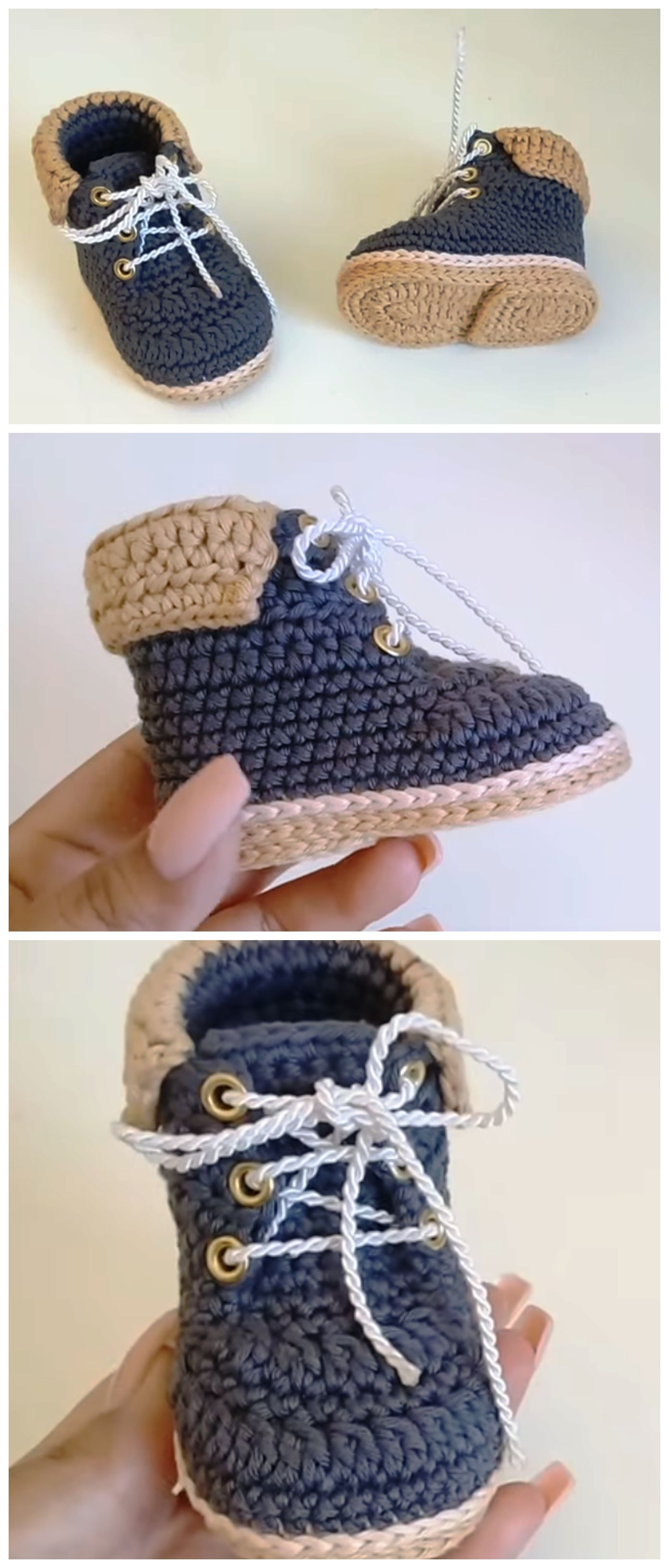 Crochet Baby Boots From 0 To 3 Months #spanishthings