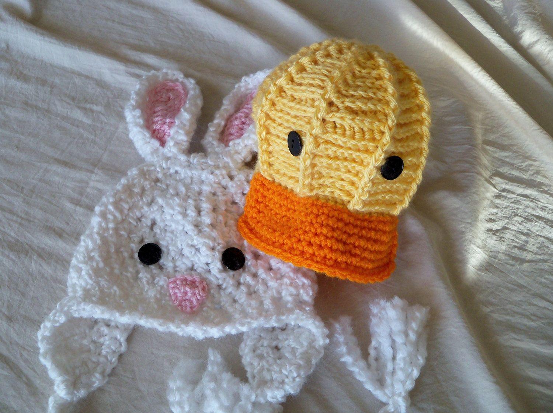 Duck Hat  - Baby Duck Hat -Baby Hat - Easter Duck Hat -  Easter Chick Hat - by JoJosBootique. $30.00, via Etsy.