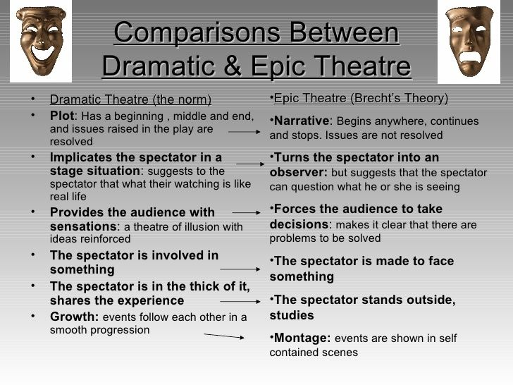 Brecht's Epic Theatre - One of the goals of Epic Theatre is that ...