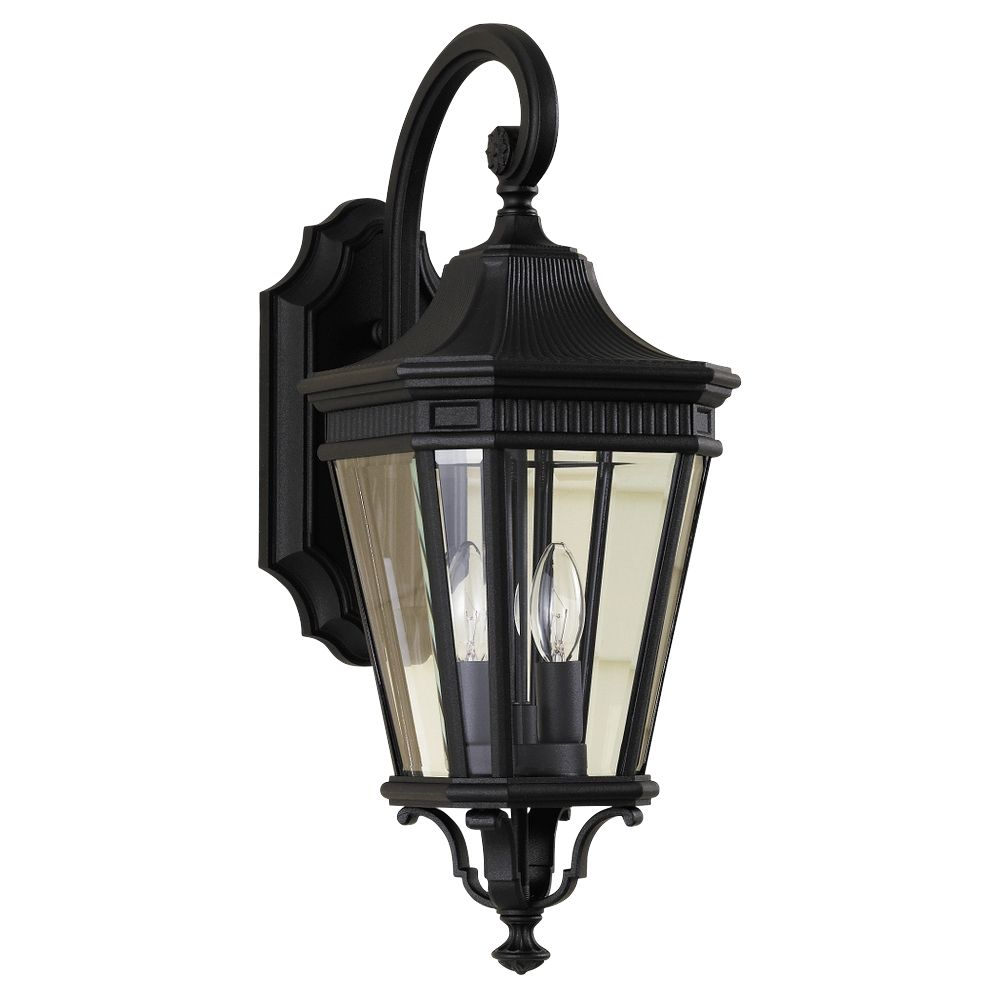 Feiss Cotswold Lane 20 1 2 H Black Outdoor Wall Light Style M8668 Black Outdoor Wall Lights Outdoor Wall Lighting Outdoor Walls