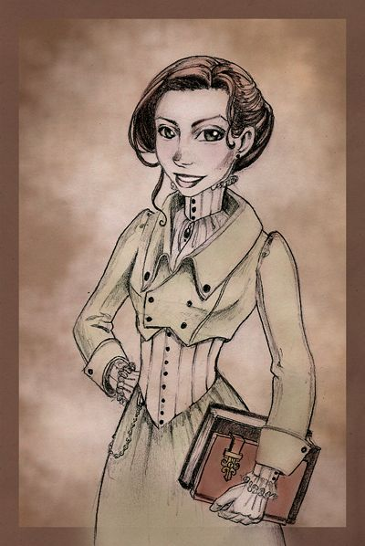 Felicity, Steampunk Librarian by Theriona