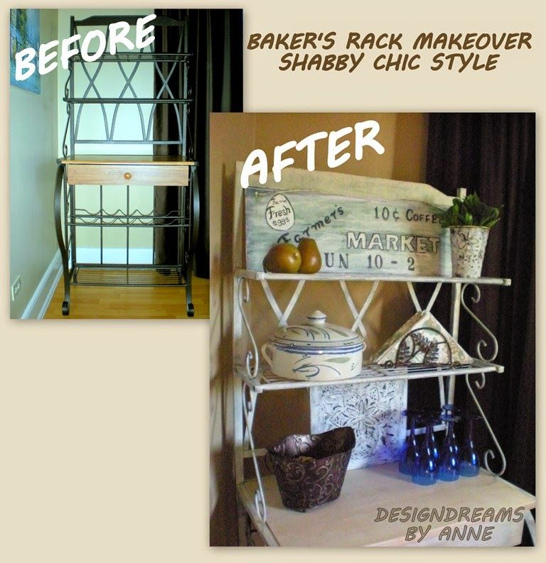 Baker S Rack Makeover Shabby Chic Look With Images Bakers