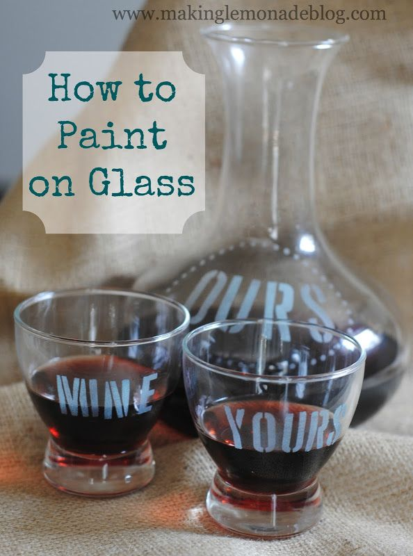 How to Paint Glass Using Martha Stewart Glass Paint DIY Vintage