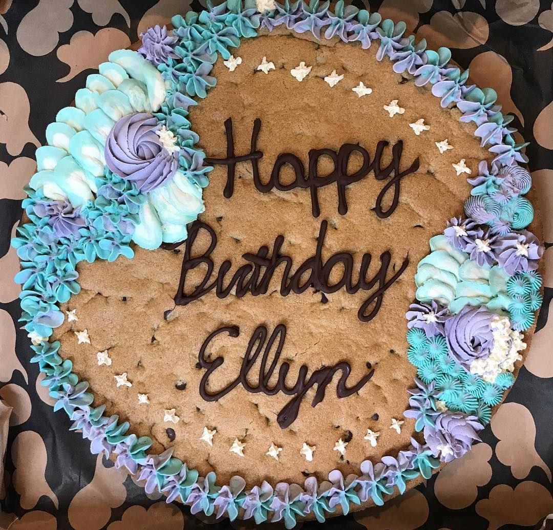 Swell Mermaid Inspired Chocolate Chip Cookie Cake With Images Cookie Personalised Birthday Cards Petedlily Jamesorg