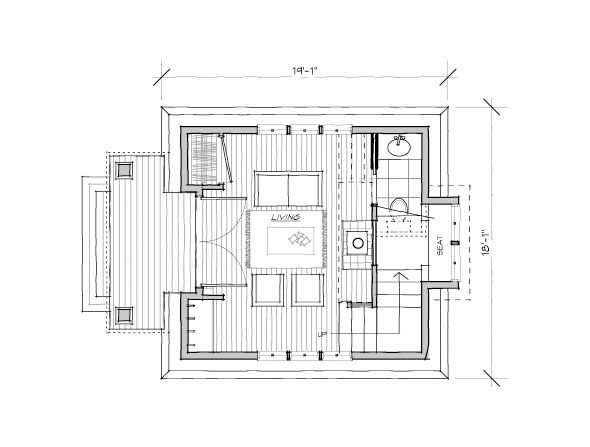 The Alder Tower Cottage Floor Plans Small House Plans Small House Design