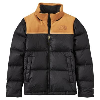 Men\u0027s Timberland X The North Face Nuptse Puffer Jacket TNF Black/Wheat  Nubuck