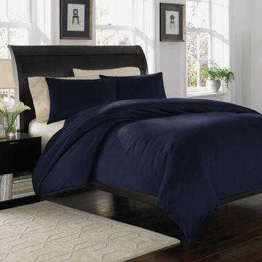 Royal Velvet 400tc Wrinkle Resistant Duvet Comforter Cover Sham Set Navy Blue Duvet Cover Sets Home Bedroom Sets