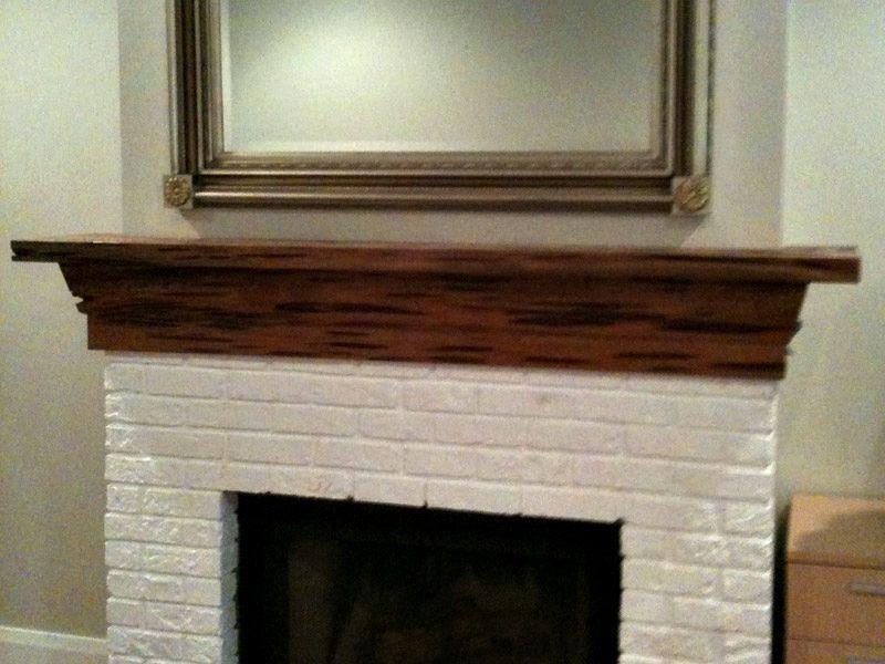 Recovered Pecky Cypress Mantel Fireplace Backsplash
