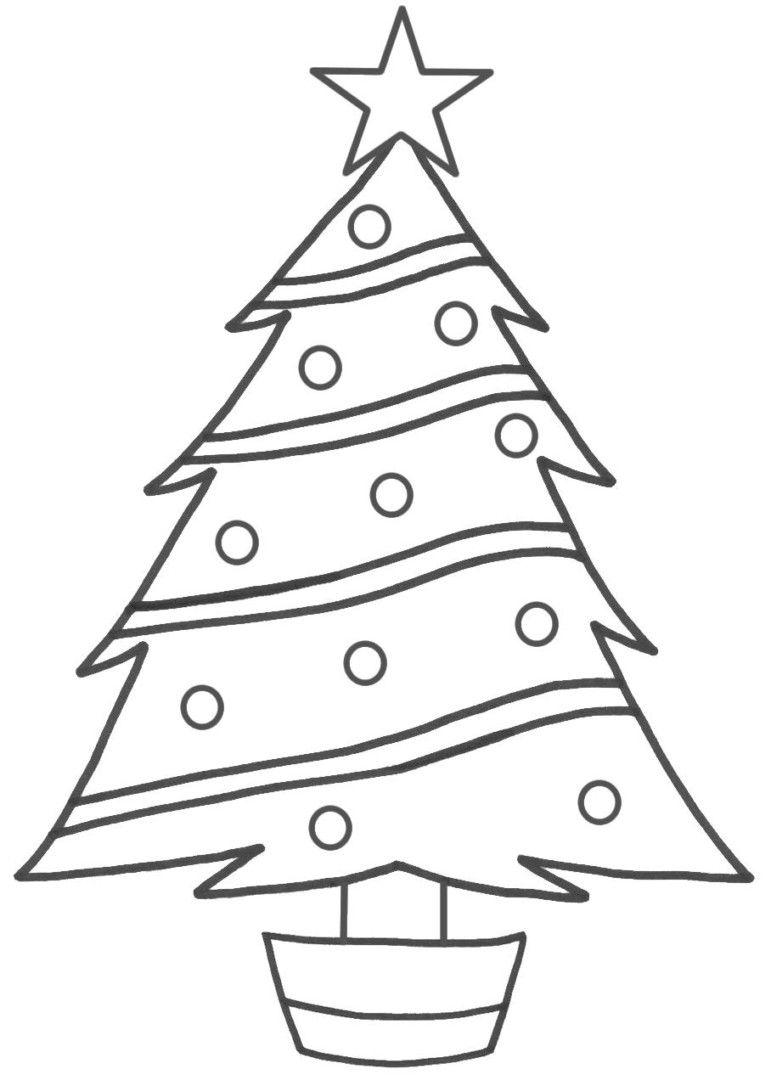 pin by julia on colorings | christmas tree template, christmas tree