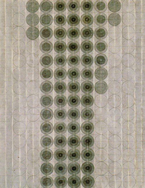 Eva Hesse | Untitled, 1966 | Black ink wash and pencil