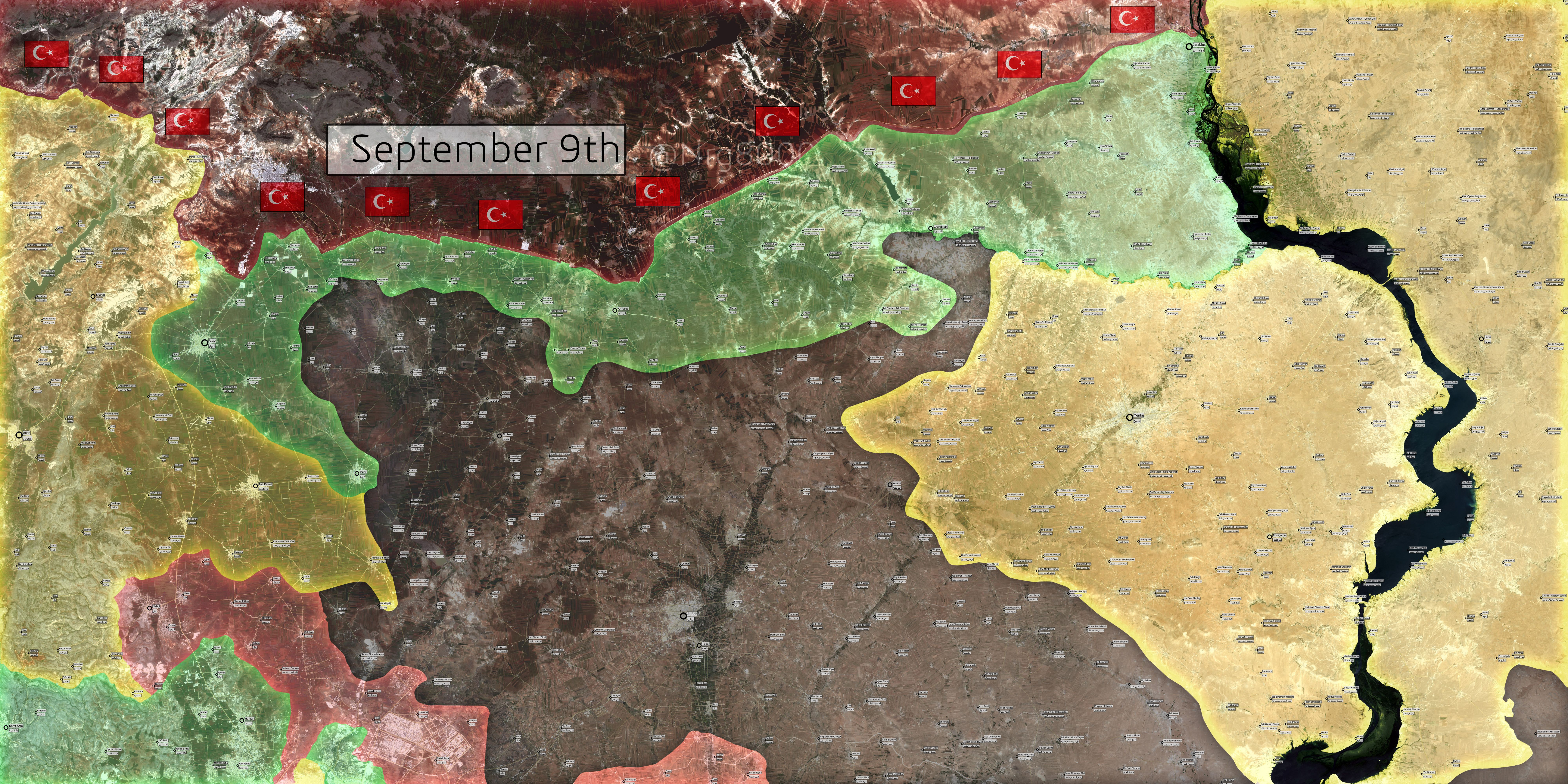 Turkeyu0027s invasion from Jarablus to Exterin 50