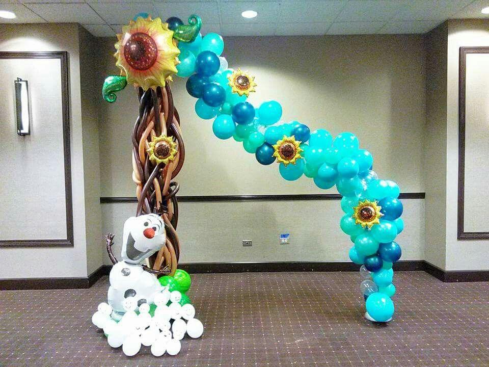Frozen olaf balloon archs arco con