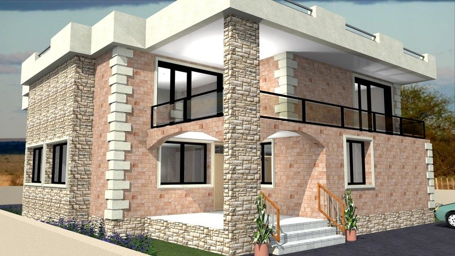 parapet wall designs Google Search RESIDENCE ELEVATIONS