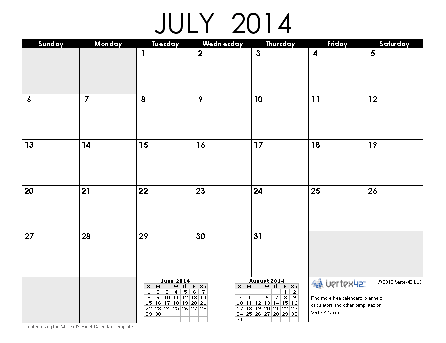 july 2014 calendar | 2014 Calendar Templates and Images | CALENDAR ...
