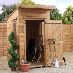 millbrook shiplap curved roof aero shed 6x4 image