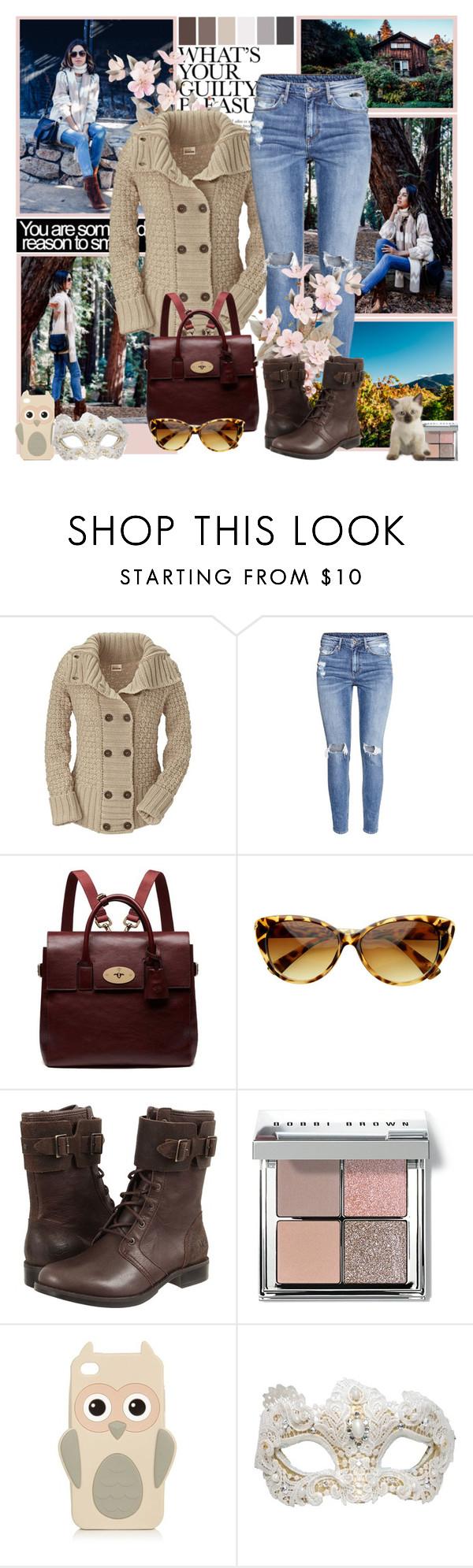 """..."" by milica-b3 ❤ liked on Polyvore featuring Kafé Stigur, H&M, Mulberry, Retrò, UGG Australia, Seed Design, Bobbi Brown Cosmetics, Swarovski, women's clothing and women"