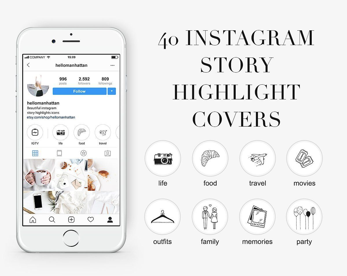 Set Of 40 Instagram Post Templates Story Highlights Instagram Template Pink Instagram Instagram Story