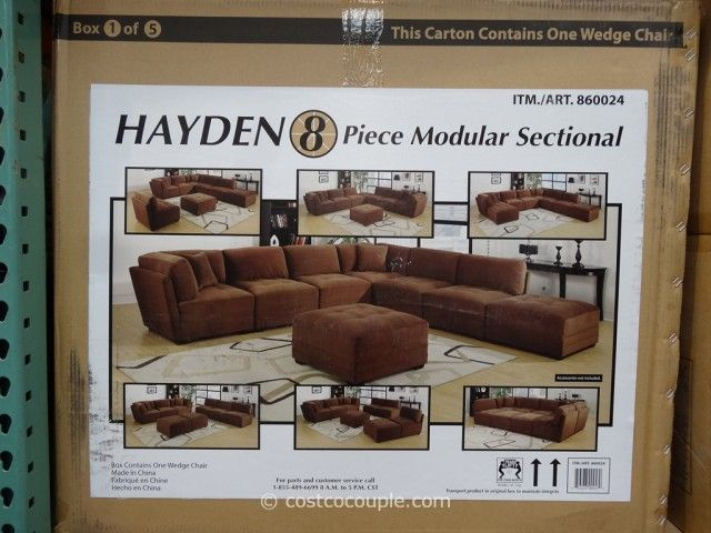 Marks And Cohen Hayden 8 Piece Modular Fabric Sectional Fabric