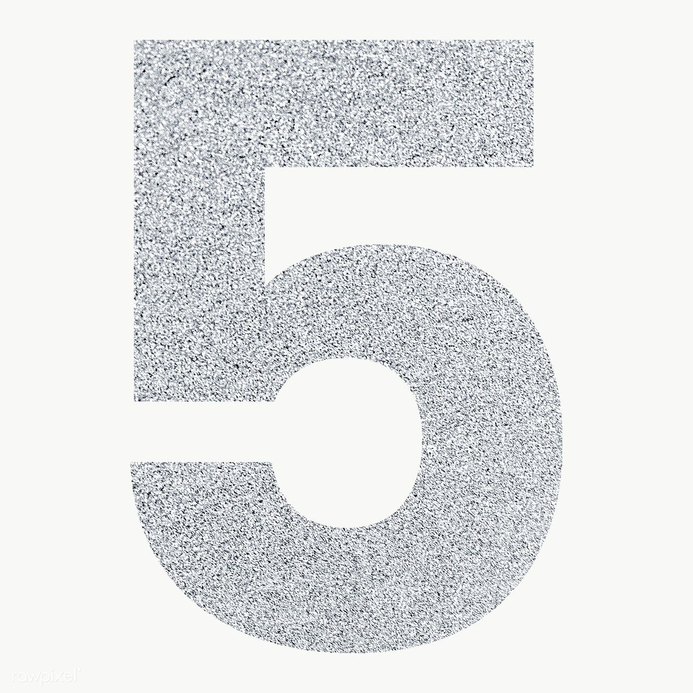 Glitter Metallic Number 5 Typography Transparent Png Free Image By Rawpixel Com Ningzk V Typography Glitter Free Png