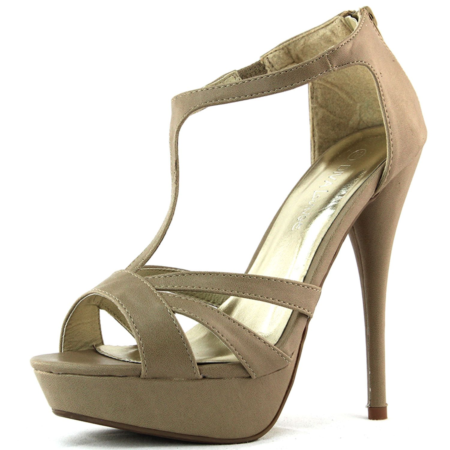 Material: Man Made Material Approx inch heel, 1 inch platform Brand: Wild  Diva Product Code: Natural Nude Color Girls Patent Leather Shoes, Knee High  Lace ...