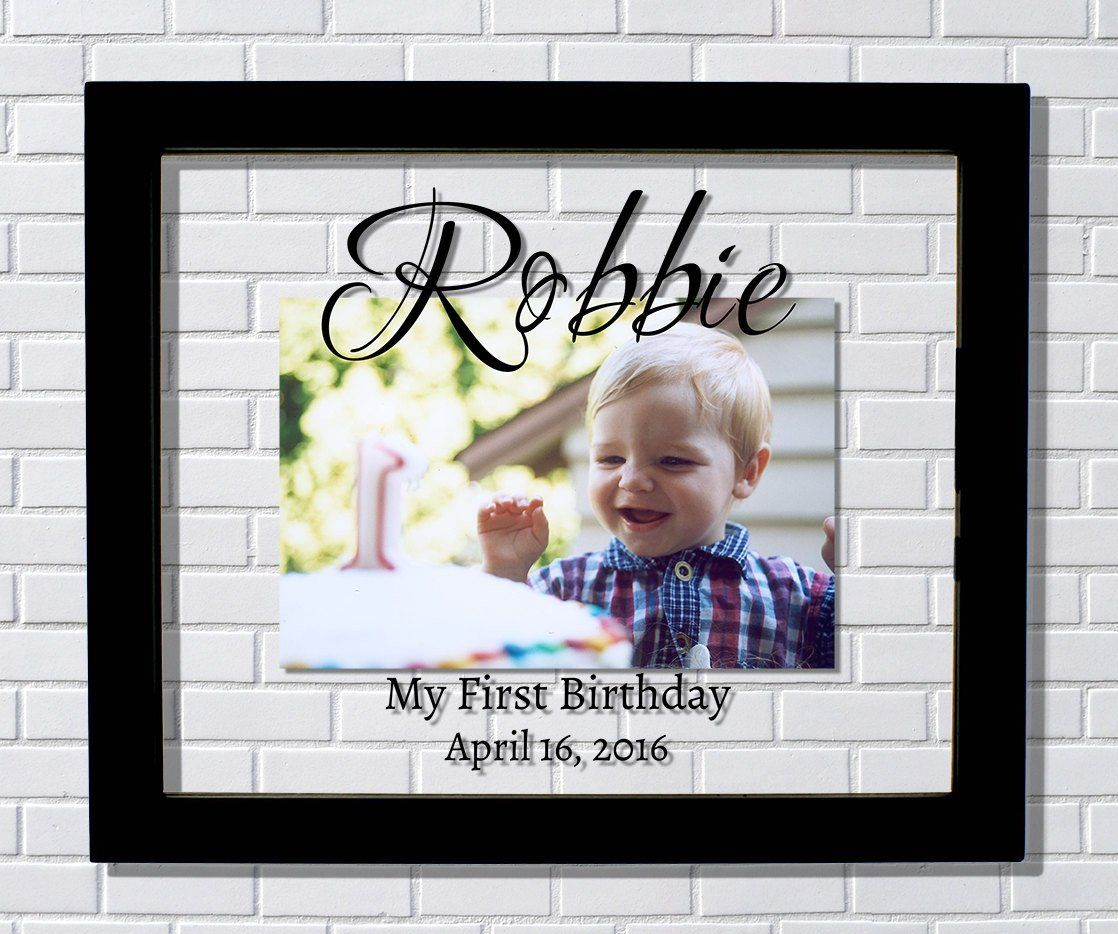 First Birthday Frame - Floating Picture Frame - My First 1st ...