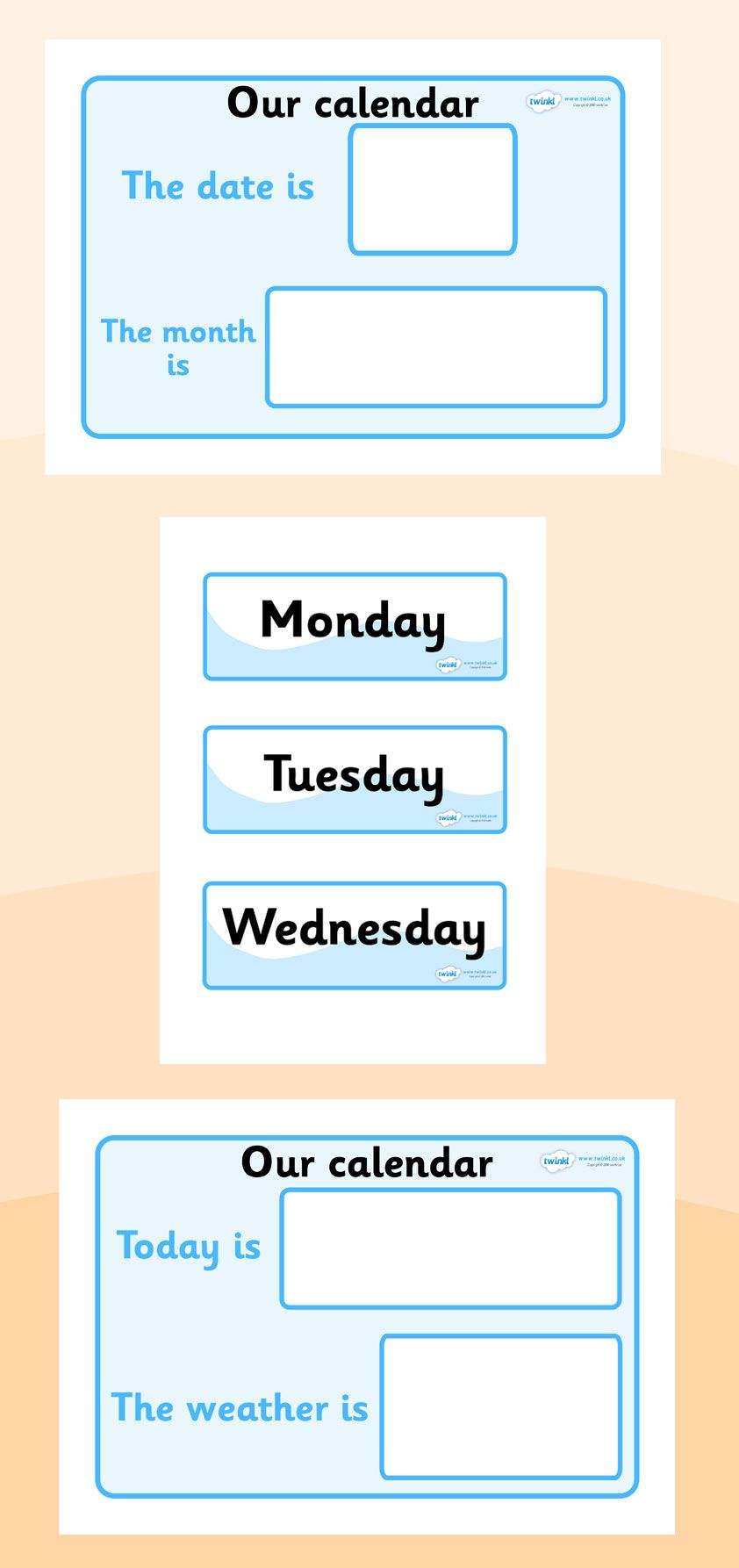 Calendar Ideas Primary : Twinkl resources gt weather calendar printable