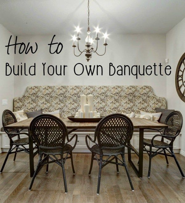 I Love The Look Of A Dining Room Banquette Bench Because It Adds Character  To A