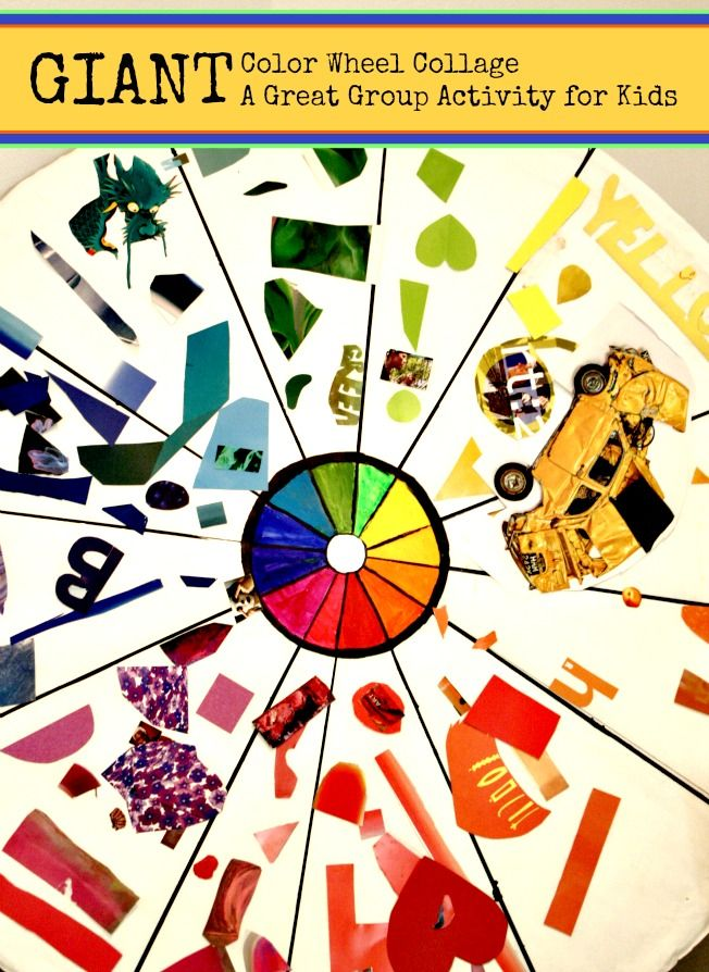 Giant Color Wheel Collage Craft Closet Boredom Busters For Kids