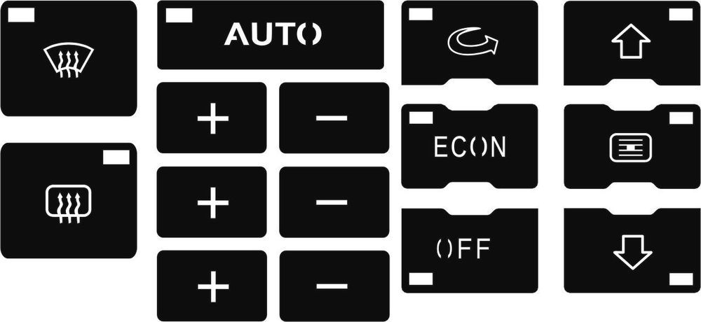 Details about Set of Stickers to repair the buttons on your