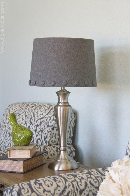 hot glue lamp shade cover | decorating ideas | pinterest