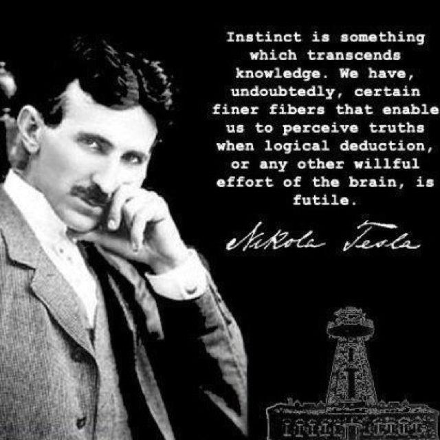Nikola Tesla Wallpaper Hd: Instinct Transcends Knowledge...