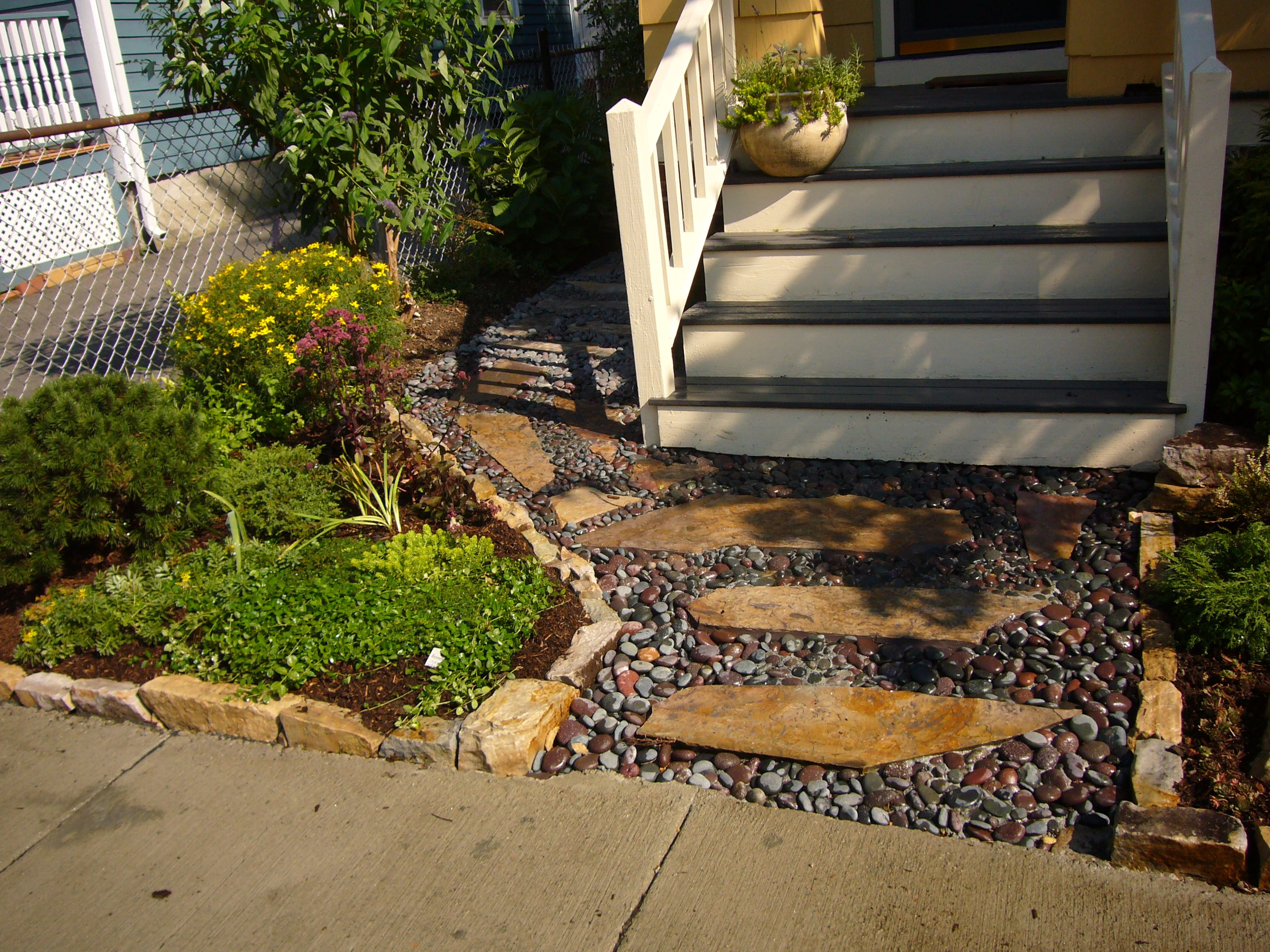 River rock walkway... for front of house | Becoming a ...