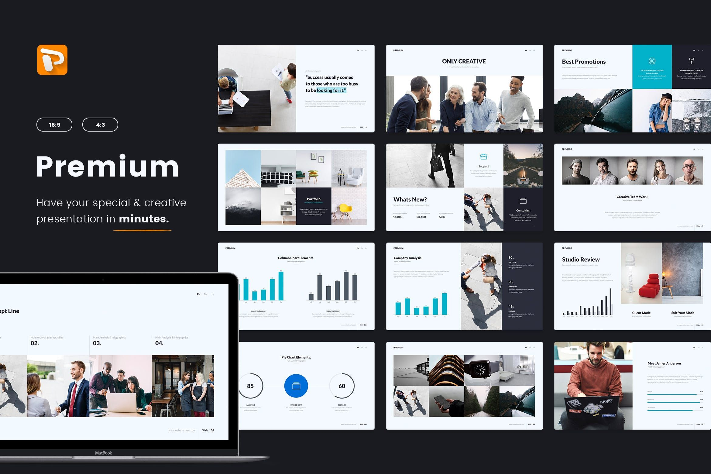 Premium Business Multipurpose Powerpoint By Simplesmart On Envato Elements Business Template Content Infographic Envato