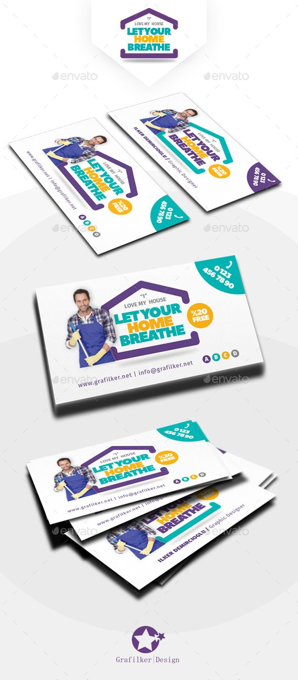 House Cleaning Business Card Templates | Cleaning business, Card ...