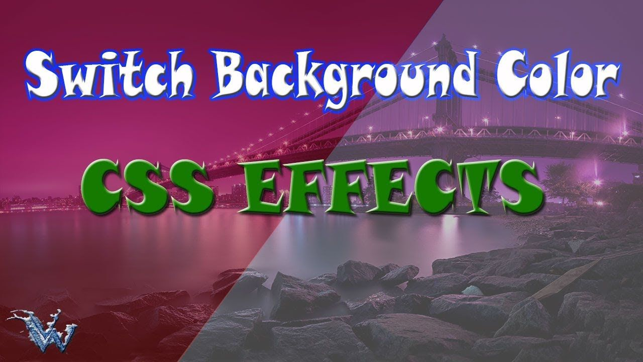 Change or Switch Background Color css css click effect