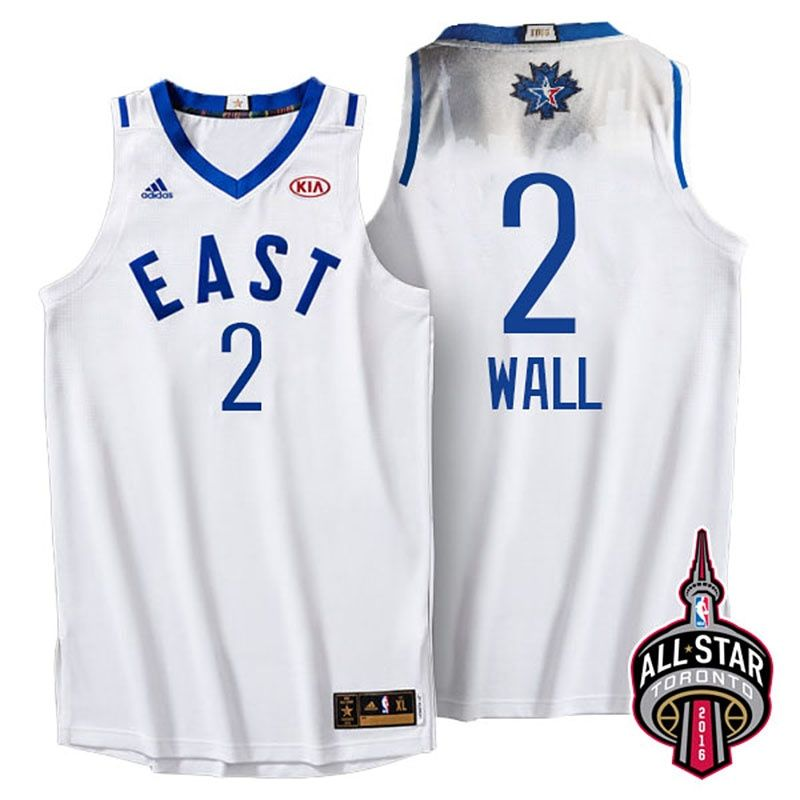 1ed7da6624c5 John Wall 2016 Toronto All Star Eastern  2 White Jersey. The name and  numbers are stitched. Click BUY to get the jersey from Aliexpress