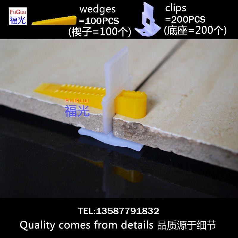 Plytki System Wyrownywania Fg 1 200 Sztuk Klipy I 100 Sztuk Kliny Tile Leveling System Construction Tools Tools