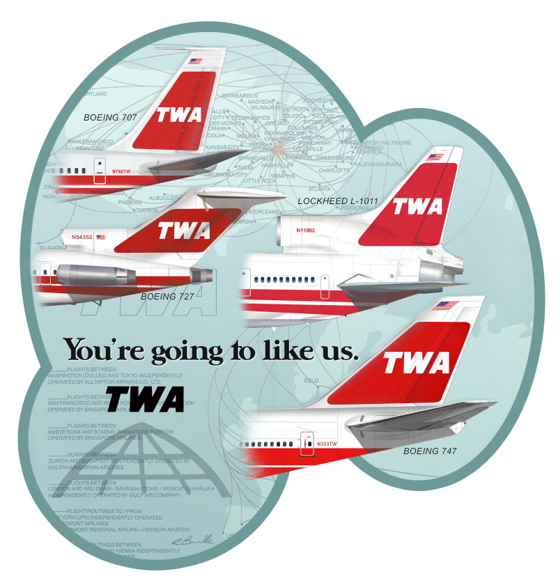d01dcf0da55181 Trans World You're Going To Like Us | Try Walking Across | Airplane ...