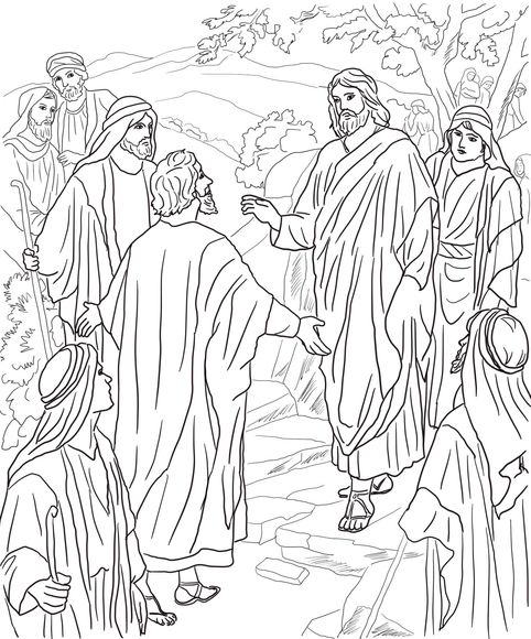Peter S Confession Of Christ Coloring Page Messiah Christ