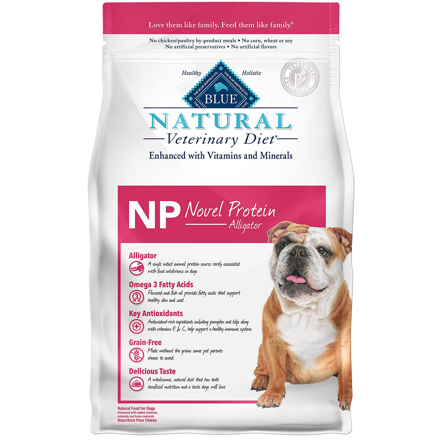 Blue Buffalo Blue Natural Veterinary Diet Np Novel Protein Alligator Dry Dog Food 6 Lbs Petco In 2020 Dry Dog Food Blue Buffalo Dog Food Recipes