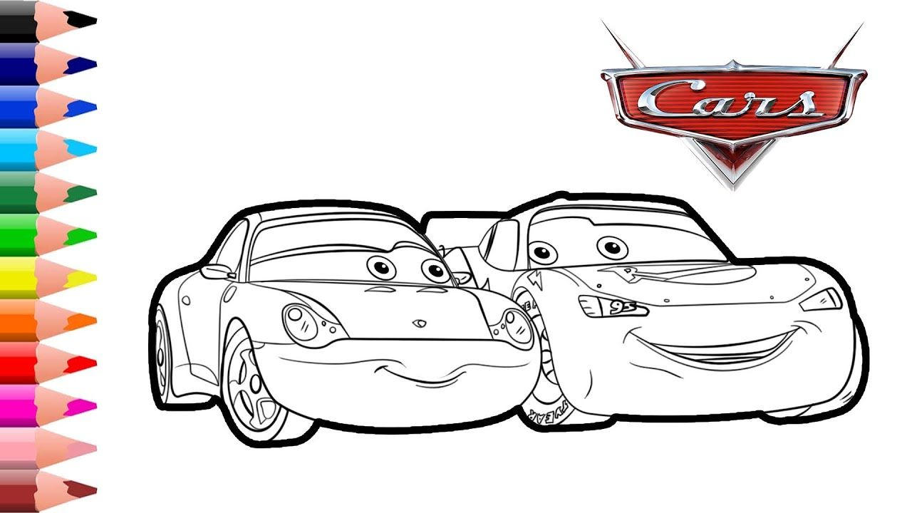 Lightning Mcqueen And Sally From Cars 3 Coloring Page Coloring For Kids Coloring For Kids Lightning Mcqueen Disney Cars Party [ 720 x 1280 Pixel ]