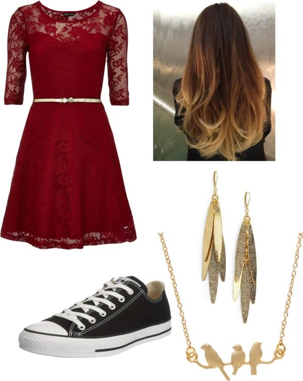 Classic Dress With Converse By Mackilynnerocks Liked On Polyvore
