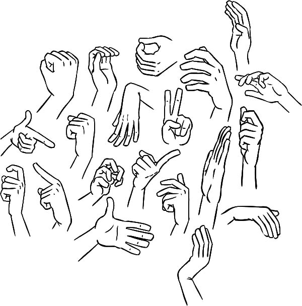 Hands Gesture Coloring Pages Best Place To Color Coloring Pages Hands Gesture Coloring Pages For Kids
