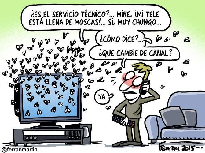 """Mi tele está llena de moscas"" @ferranmartin"