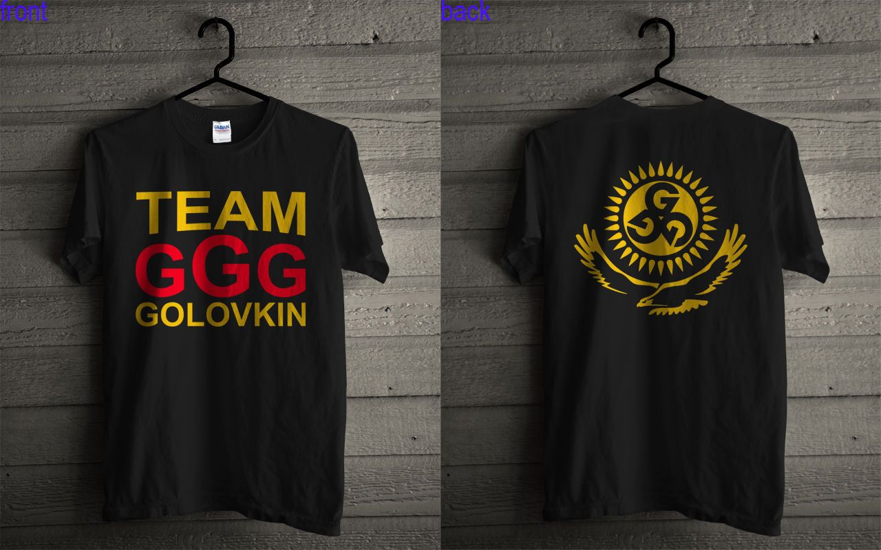 8968e0351eb4e Team GGG Gennady GGG Golovkin Black T Shirt 2 Sides | Products ...