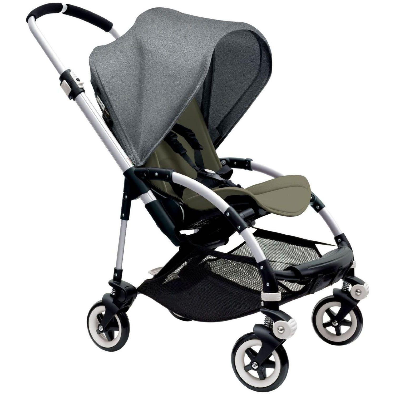 Bugaboo Bee3 Stroller Aluminum Dark Khaki Grey Melange