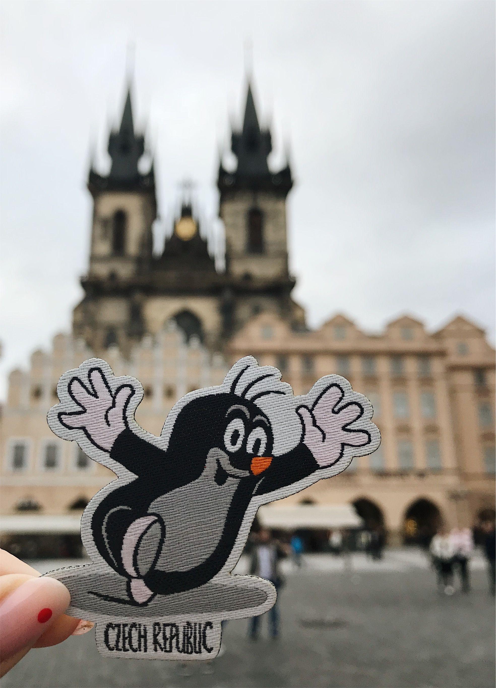 Travel Patch Czech Republic Mole Size 6 2 Cm X 5 6 Cm For Czech Republic We Chose Famous Mole F Travel Patches Iron On Embroidered Patches Czech Republic