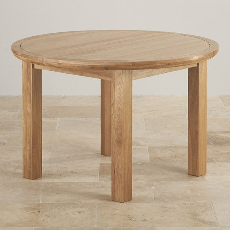 Knightsbridge Natural Solid Oak 4ft Round Extending Dining