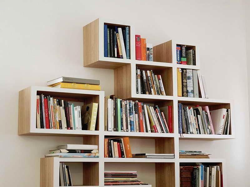 StorageSplashy Criss Cross Bookshelf Ideas Plans